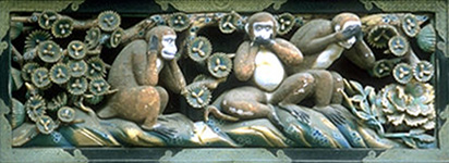 'Three Wise Monkeys' - above Nikko stables, Japan